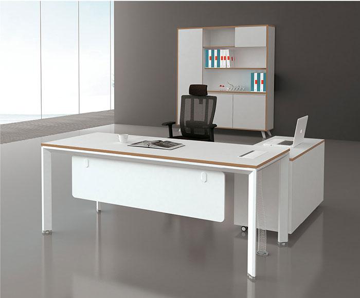 迈亚M系列白色主管桌