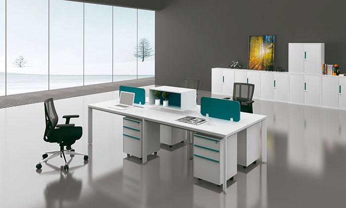 迈亚海蓝色屏风桌
