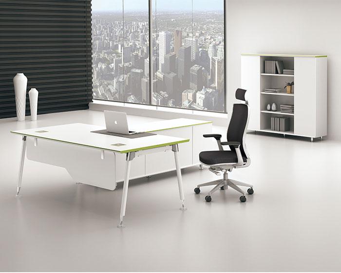迈亚凯亚白色主管桌