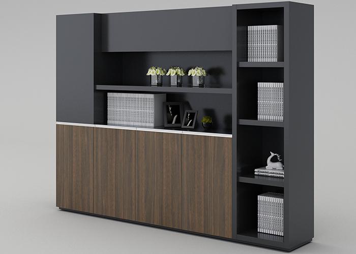 办公桌椅人体工学设计—职员办公桌置物架