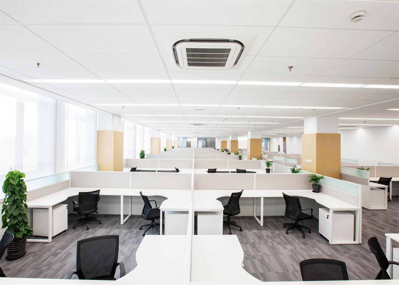 办公桌椅人体工学设计—办公室长排办公桌
